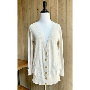 Mossimo Sweater Cardigan V-Neck Knit Oatmeal